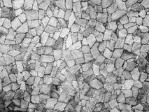 Mur en béton noir et blanc Images stock