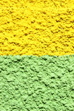 Mur en béton vert et jaune Images libres de droits