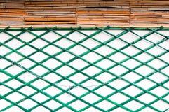 Mur en bambou vert Image libre de droits