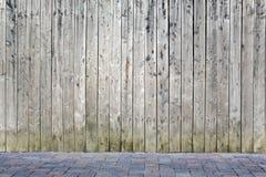 Mur en bois Photo libre de droits