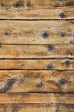 Mur en bois au bâtiment arbre sec et prévu Image libre de droits