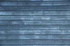 Mur en bois bleu Photographie stock libre de droits