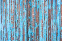 Mur en bois bleu Images libres de droits