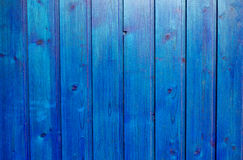 Mur en bois bleu Images stock