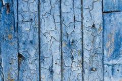 Mur en bois bleu de cru Images libres de droits