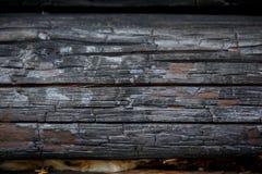 Mur en bois brûlé Photo stock