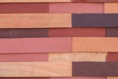 Mur en bois coloré de planche Photographie stock