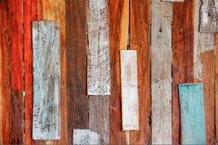 Mur en bois coloré de vieil art Photo libre de droits