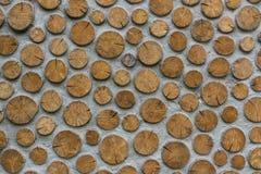 Mur en bois coupé Images libres de droits