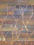 Mur en bois découpé Image libre de droits