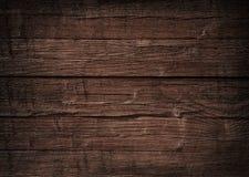 Mur en bois de Brown, planches, table, surface de plancher Texture en bois foncée image stock