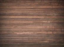Mur en bois de Brown, table, surface de plancher Texture en bois foncée photographie stock