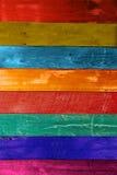 Mur en bois de couleur Images libres de droits