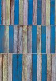 Mur en bois de couleur d'art abstrait Photo libre de droits
