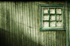 Mur en bois de couleur verte Photographie stock libre de droits