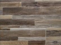 Mur en bois de Faux pour les intérieurs à la maison Style, fond et texture rustiques Images libres de droits