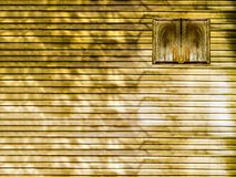 mur en bois de fenêtre et en bois photographie stock
