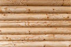 Mur en bois de maison Photos libres de droits