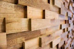 Mur en bois de planche en profondeur du champ Photo stock