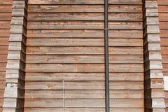 Mur en bois de vieux pin de fond Photos stock