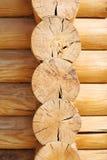 Mur en bois des rondins Photos stock