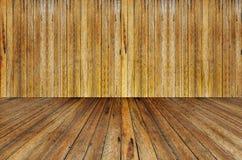 Mur en bois et plancher en bois Photo stock
