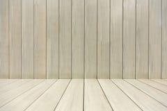 mur en bois et plancher de couleur beige photographie stock