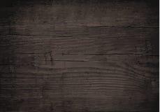 Mur en bois noir, table, surface de plancher Texture légère en bois de vecteur Photo stock