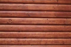 mur en bois rouge de tronc Photographie stock