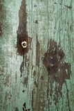 Mur en bois vert Photos libres de droits