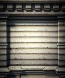 mur en métal 3d, fond antique d'architecture Photos stock