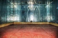 Mur en métal d'un garage dans le hdr Photographie stock