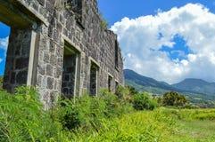 Mur en pierre épais et vieux Photo libre de droits