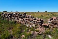 Mur en pierre, île d'Oeland, Suède Photographie stock libre de droits