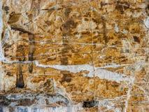 Mur en pierre antique de la maison rurale italienne typique photo stock