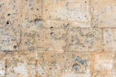 Mur en pierre antique Texture de pêche Photos libres de droits
