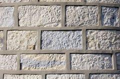 Mur en pierre avec la fugue de ciment Photo libre de droits