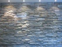 Mur en pierre blanc et gris photographie stock libre de droits