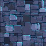 Mur en pierre bleu de texture sans couture de fond Illustration de vecteur pour l'élément de jeu d'Ui illustration stock