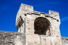 Mur en pierre construit médiéval de ville d'Avignon photos stock