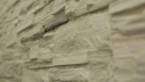 Mur en pierre décoratif banque de vidéos