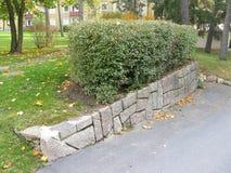 Mur en pierre d'années '50 photo stock