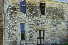 Mur en pierre de boulangerie Image libre de droits