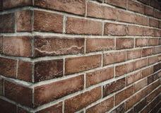 Mur en pierre de brique de Brown Photographie stock libre de droits