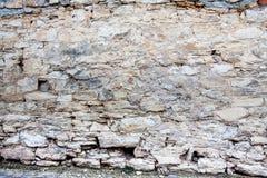 Mur en pierre de château Photo libre de droits
