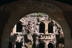 Mur en pierre de château médiéval Photo libre de droits