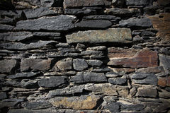 Mur en pierre de cru Image stock