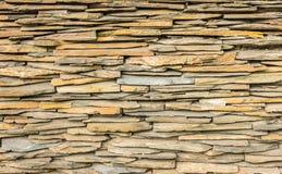 Mur en pierre de dalle Photos libres de droits