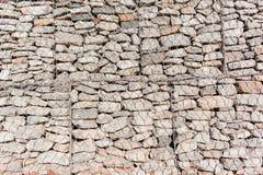 Mur en pierre de fil Images libres de droits