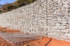 Mur en pierre de fil Image libre de droits
